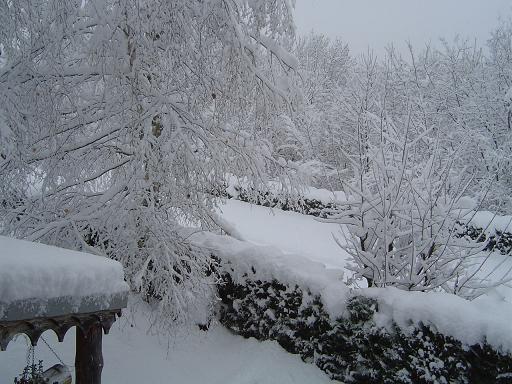 Chéron sous la neige.