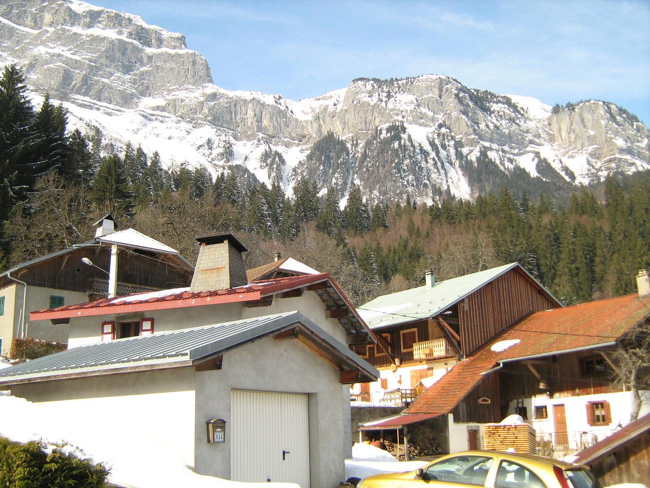Le haut du village.